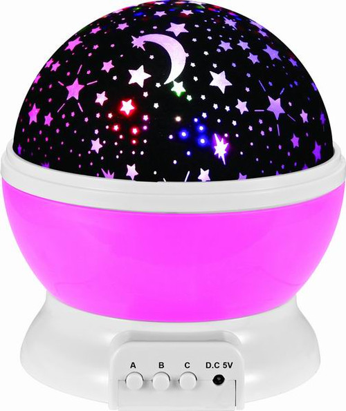 Night Light Projection Lamp (Pink) For Starry Skies