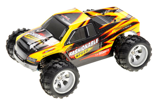 RC 2.4Gh 4WD Remote Control Off-Road Truck (Yellow) For Indoor Outdoor Grounds