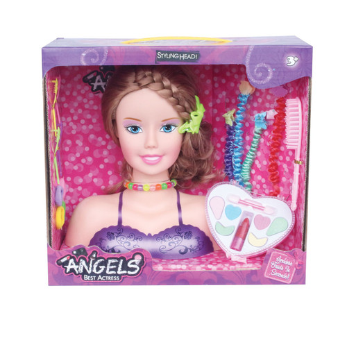 Beautiful Princess Styling Head Playset With Fashion Accessories