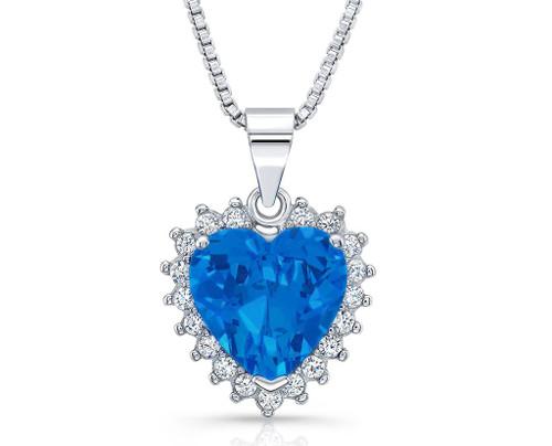 Heart-Sapphire Dazzling Valentine-Special Pendants