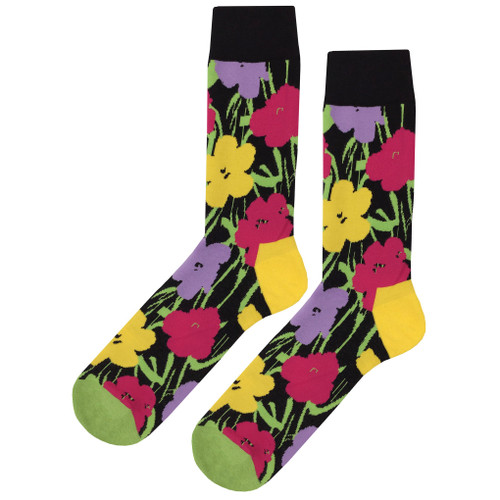 Comfortable & Stylish Multicolor Flower Fun Socks
