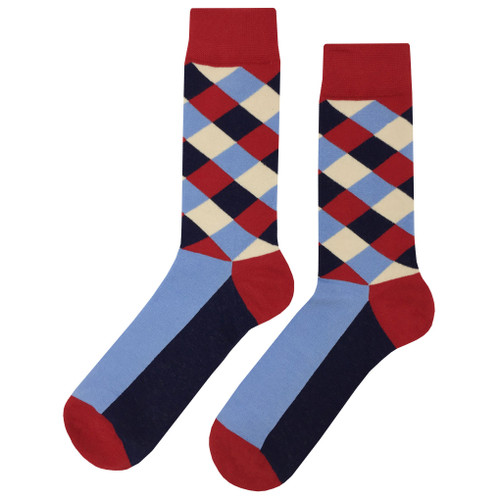 Printed Soft and Breathable Scholar Hatch Socks