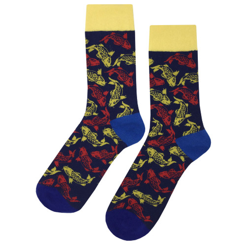 Multicolor Printed Soft and Breathable Lucky Fish Socks