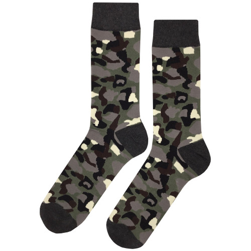 Printed Soft and Breathable Dark Camouflage Socks