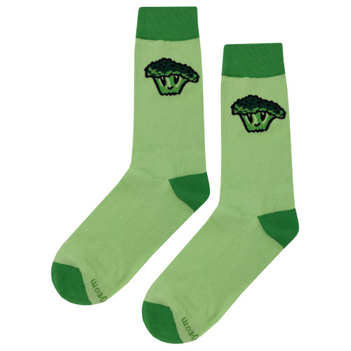 Colorful Soft and Breathable Broccoli Face Socks