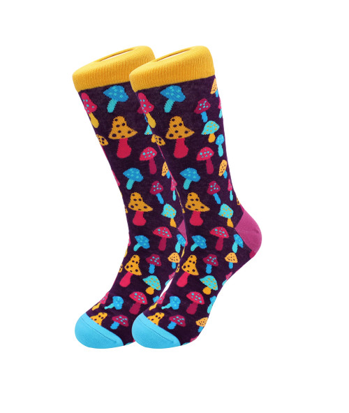 Sick Socks-Trippy Mushrooms-Trippy Dress Socks