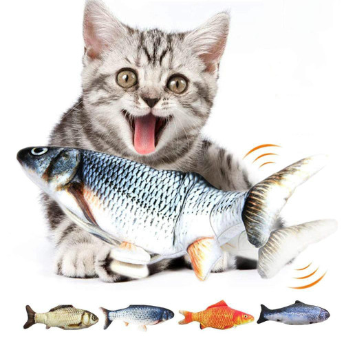 Electric Flipping Fish Toy for Cats