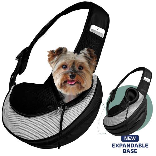 Katziela Comfortable Grey Sling Bag Pet Carrier