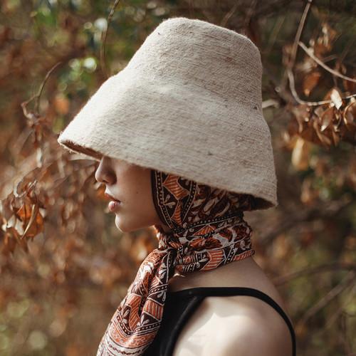 Stylish Naomi Jute Bucket Hat