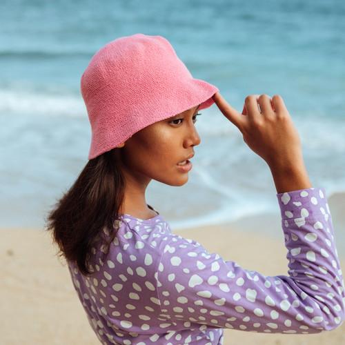 FLORETTE Crochet Bucket Hat in Pink