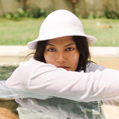 NALA Safari White Cotton Hat
