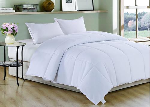 White Medium Weight Hypoallergenic Twin Down Alternative Comforter Duvet insert. 248176
