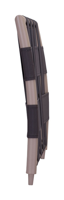 """28.7"""" x 2"""" x 19.5"""" Taupe & Brown, Mesh, Powder Coated Aluminum, Beach Arm Side/Backrest. 249223"""