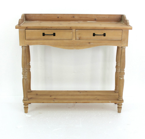 """11.75"""" x 42"""" x 38.5"""" Natural, 2 Drawer, Rustic, Unfinished Dressing - End Table. 274430"""