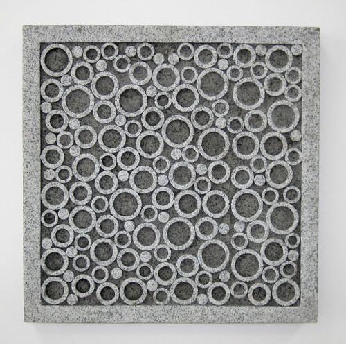 """1"""" x 17"""" x 17"""" Brown, Sandstone, Square, Bubble Design - Wall Decor. 274757"""