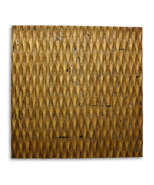 "1"" x 24"" x 24"" Gold, Metallic Ridge - Wall Art. 274793"