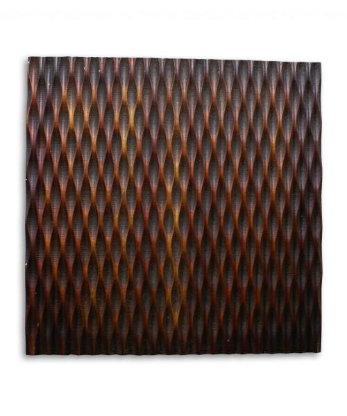 """1"""" x 24"""" x 24"""" Brown, Metallic Ridge - Wall Art. 274794"""