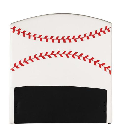 Twin Headboard Only, Baseball - Pu, Wood, Plywood, Fr Foa Baseball. 285325