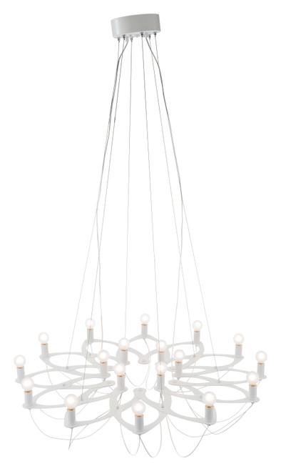 "42.5"" x 42.5"" x 11"" White, Metal, Ceiling Lamp. 295030"
