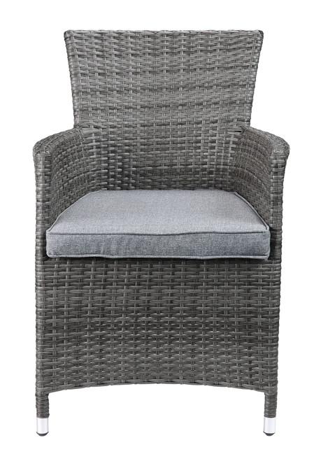 Updated Modern 3 Piece Gray Highback Wicker Patio Set. 318794