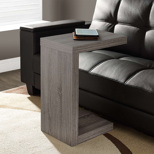"""11.5"""" x 18"""" x 24"""" Dark Taupe Hollow Core Particle Board  Accent Table. 332846"""