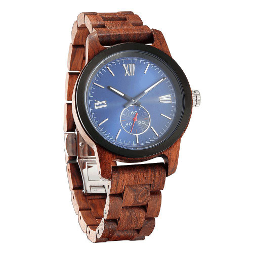 Men's Handcrafted Engraving Kosso Wood Watch