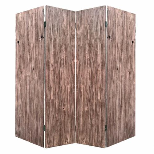 "84"" x 2"" x 84"" Brown, 4 Panel, Wood, Woodland - Screen. 342772"