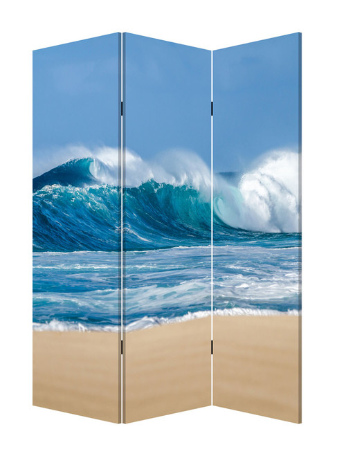 """48"""" x 1"""" x 72"""" Multicolor, Canvas, Surf's Up - 3 Panel Screen. 342776"""