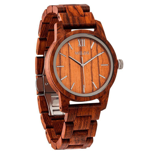 Men's Handmade Eco-Friendly Engraved Kosso Wooden Watch