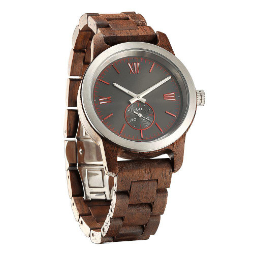 Men's Handcrafted Engraving Walnut Eco-Friendly Wooden Watch