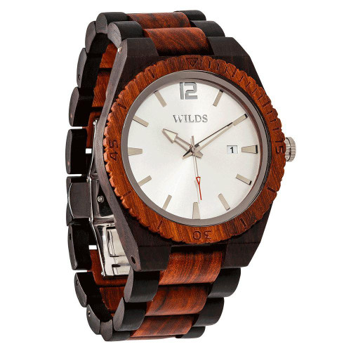 Men's Custom Engrave Ebony & Rose Wooden Watch