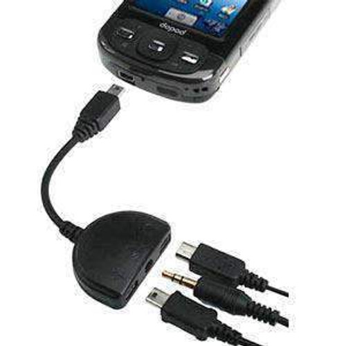 HTC® (OEM) 3-in-1 USB port and 3.5mm Adapter for HTC 6800 Mogul