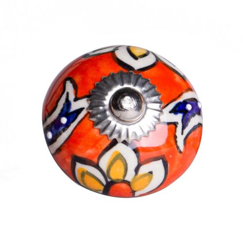 """1.5"""" x 1.5"""" x 1.5"""" Ceramic Metal Multicolor 12 Pack Knob. 358128"""