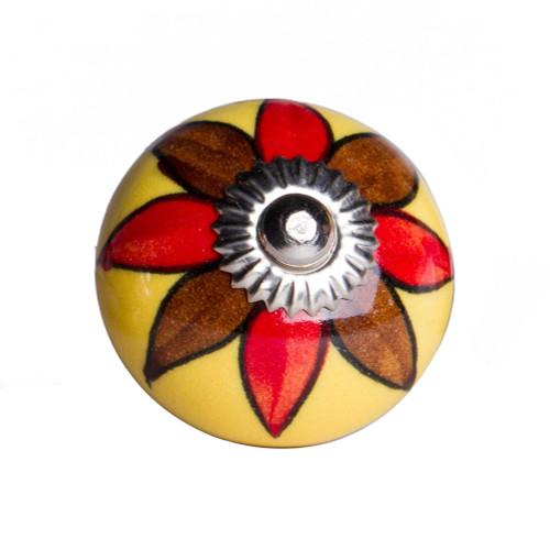 """1.5"""" x 1.5"""" x 1.5"""" Ceramic Metal Multicolor 12 Pack Knob. 358131"""
