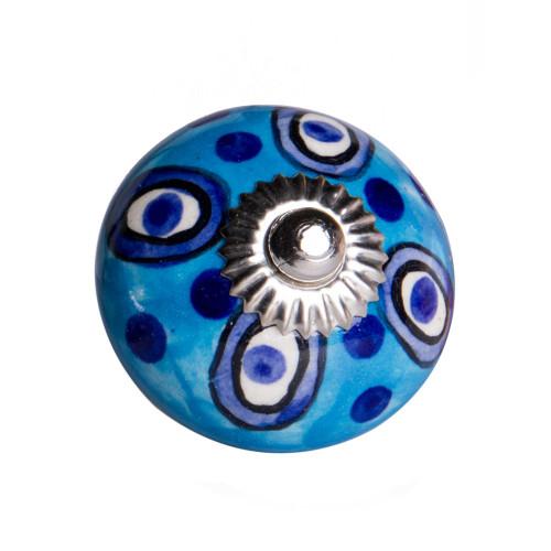 """1.5"""" x 1.5"""" x 1.5"""" Ceramic Metal Multicolor 12 Pack Knob. 358132"""