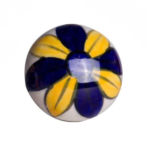 """1.5"""" x 1.5"""" x 1.5"""" Ceramic Metal Multicolor 12 Pack Knob. 358134"""