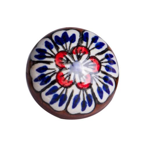 """1.5"""" x 1.5"""" x 1.5"""" Ceramic Metal Multicolor 12 Pack Knob. 358135"""