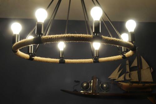 """32"""" x 37"""" x 32"""" 8 Bulbs Rope  Pendant Lamp. 364237"""