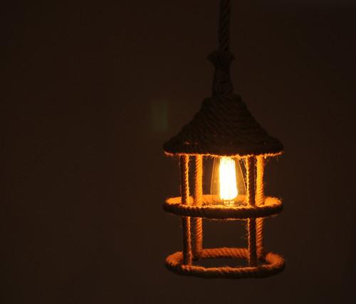"8.5"" x 8.5"" x 47"" Rope  Pendant Lamp. 364239"