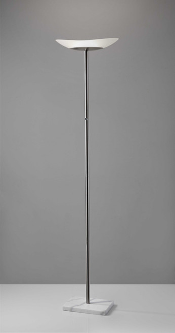 Contempo Oval Torchiere in Brushed Steel Metal. 372750