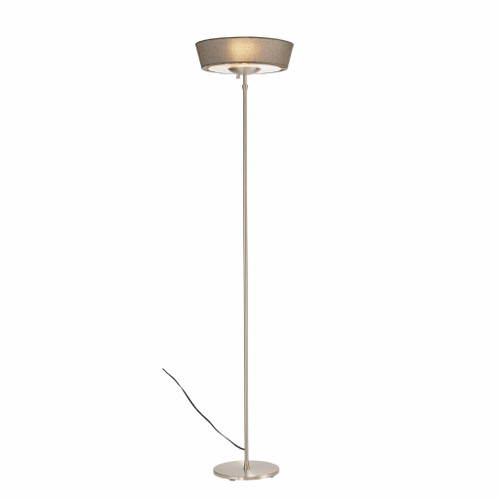 """16"""" X 16"""" X 71"""" Brushed steel Metal 300W Torchiere. 372753"""