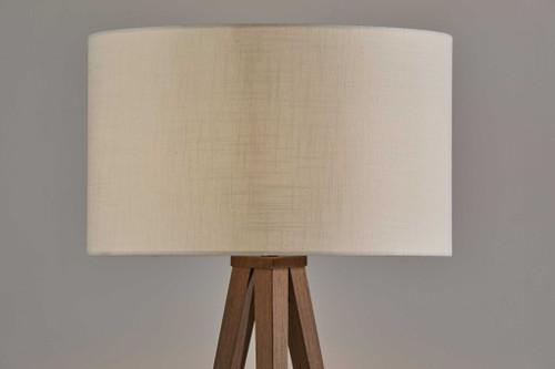 Treble Floor Lamp Three Walnut Finish Legs. 372908