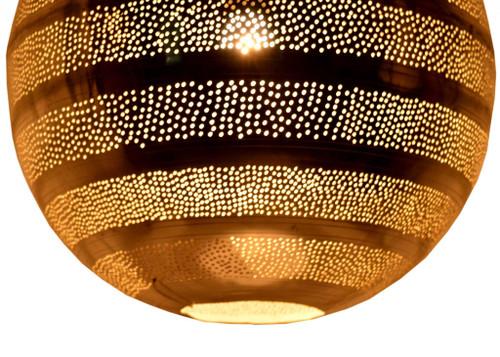 Morrocan Silver Ball Lantern Style Pendant Lamp. 373065