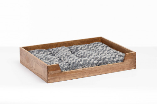 Deluxe Solid Hickory Dog Bed with Ultra Plush Mattress. 373907
