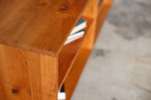 Retro Warm Natural Cherry And Steel TV Stand and Media Center. 373926