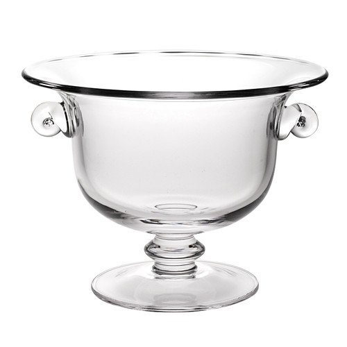 """11"""" Mouth Blown Crystal European Made Trophy Centerpiece  Fruit or Punch Bowl. 375840"""