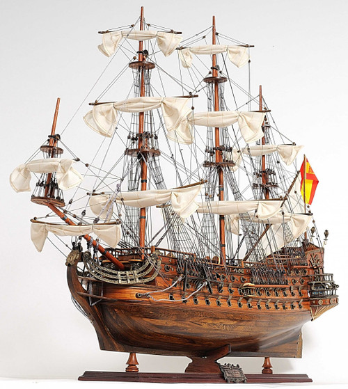 Sailboat Model with Chrome and Brass Fittings. 376346