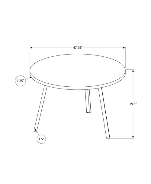 """48"""" Round Dining Room Table with Golden Pine and Black Metal. 376478"""