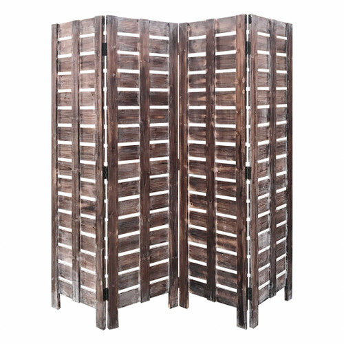 4 Panel Silver Room Divider. 379903