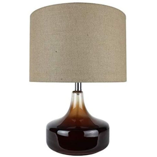 Ombre Brown Glass Accent Lamp. 380538